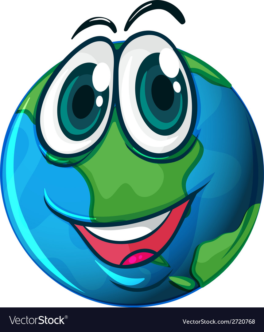 Smiling planet earth vector | Price: 1 Credit (USD $1)