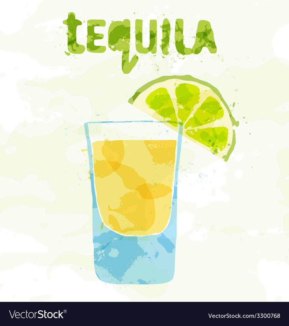 Tequila cocktail vector | Price: 1 Credit (USD $1)