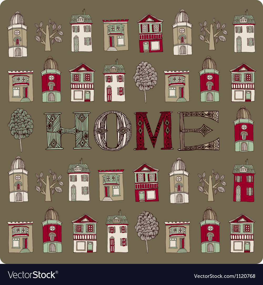 Various houses vector | Price: 1 Credit (USD $1)