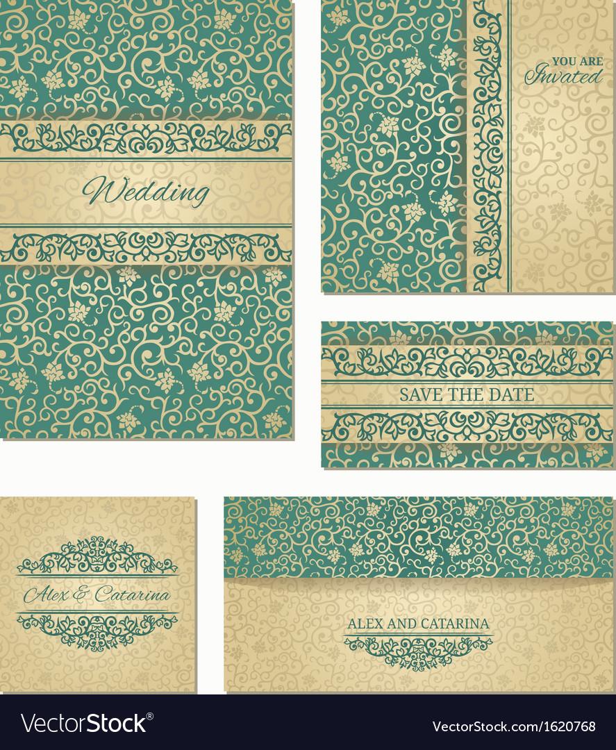 Wedding cards vector
