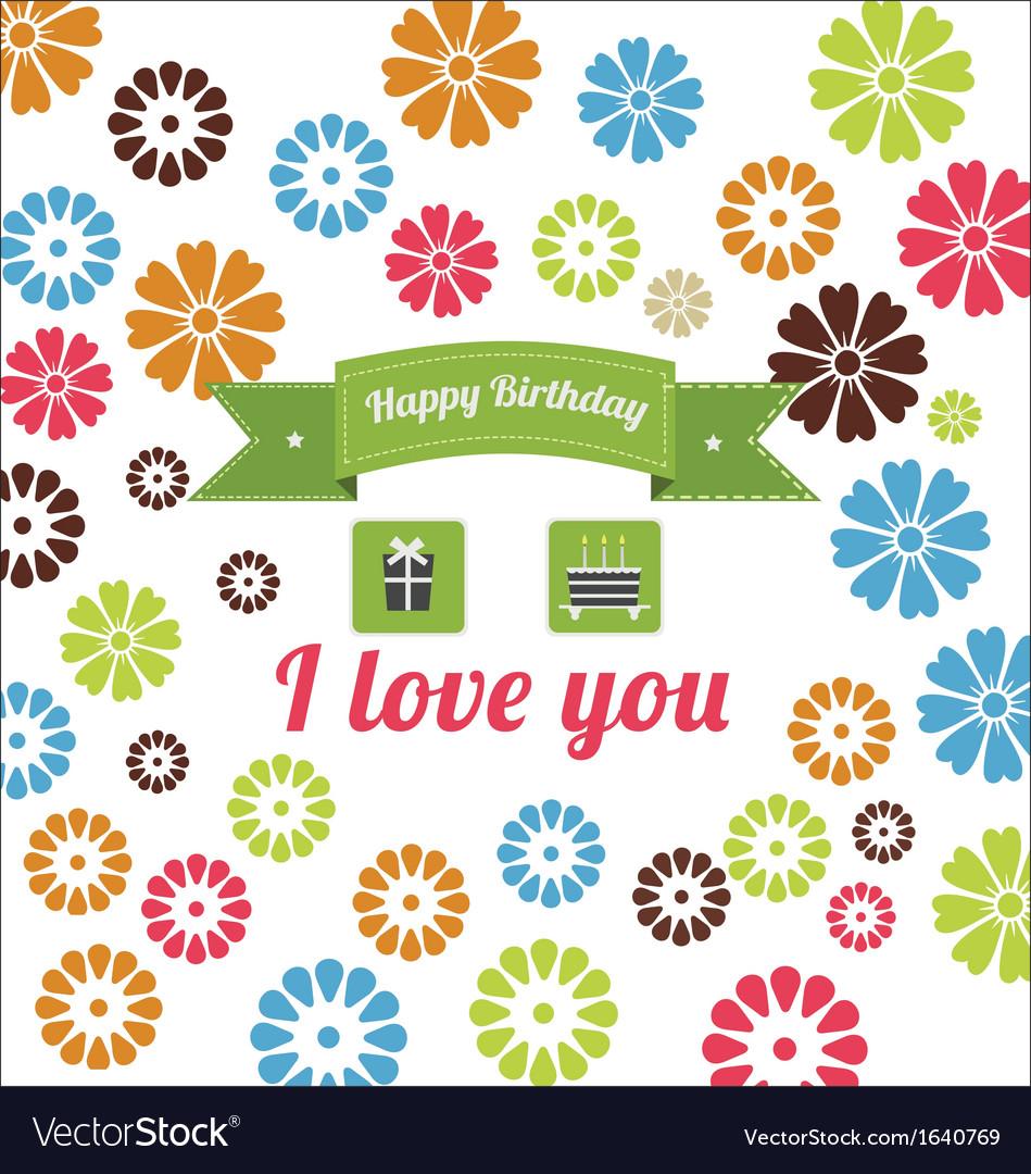 Birthday elements set vector | Price: 1 Credit (USD $1)