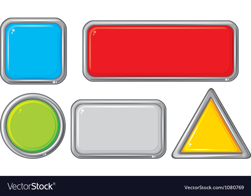 Collection of five buttons vector | Price: 1 Credit (USD $1)