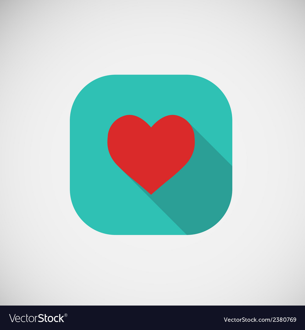 Flat icon heart eps10 vector | Price: 1 Credit (USD $1)
