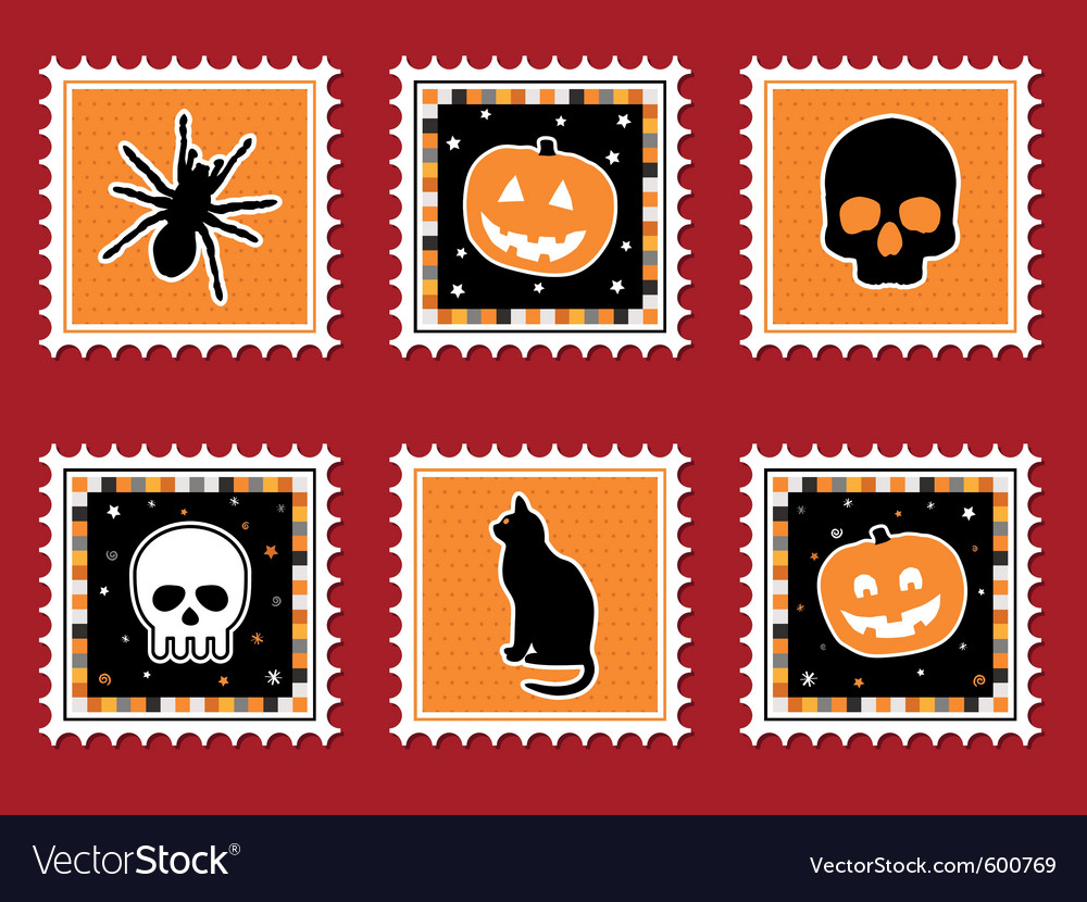 Halloween stamps vector | Price: 3 Credit (USD $3)