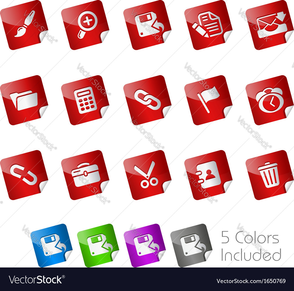 Interface stickers vector | Price: 1 Credit (USD $1)