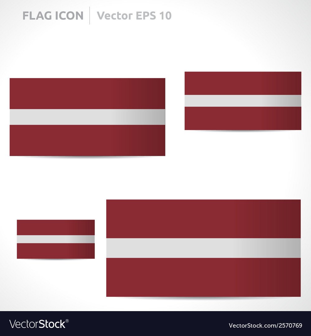 Latvia flag template vector | Price: 1 Credit (USD $1)