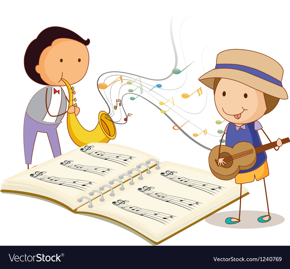 Musicians playing with the musical instruments vector | Price: 1 Credit (USD $1)