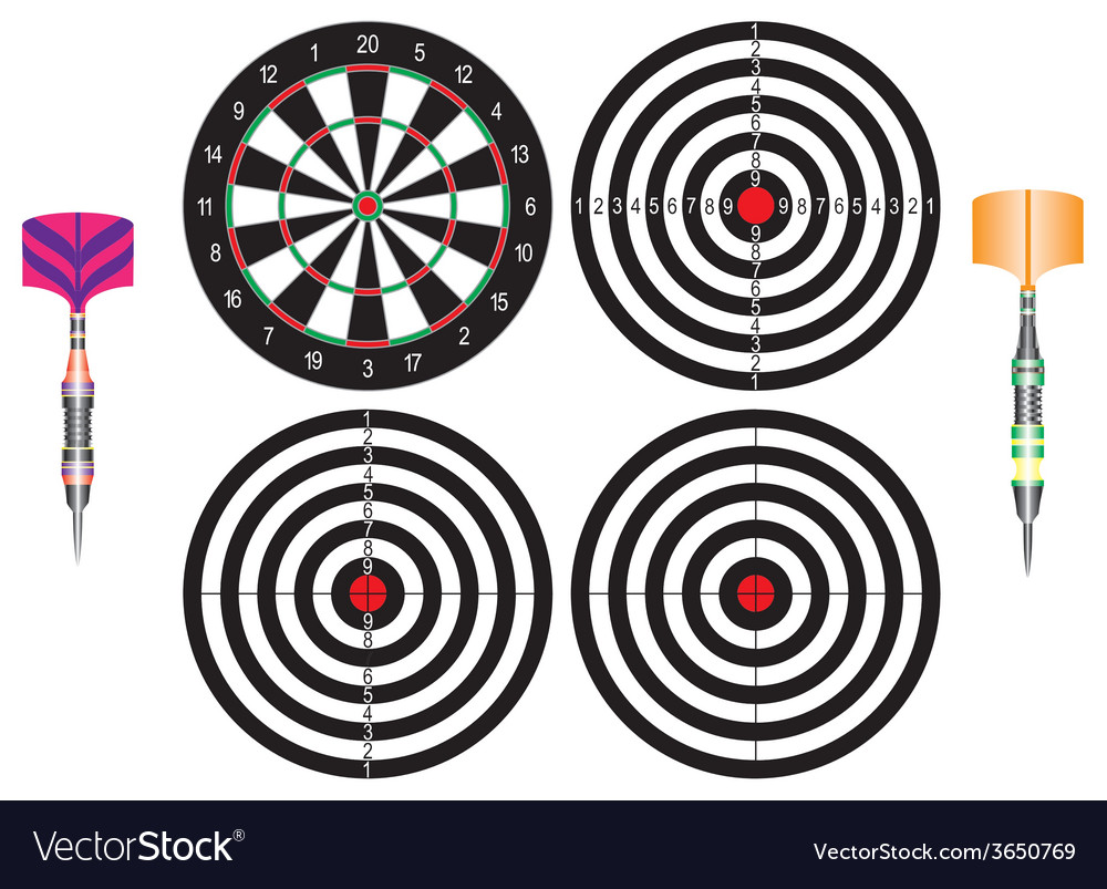 Professional darts vector | Price: 1 Credit (USD $1)