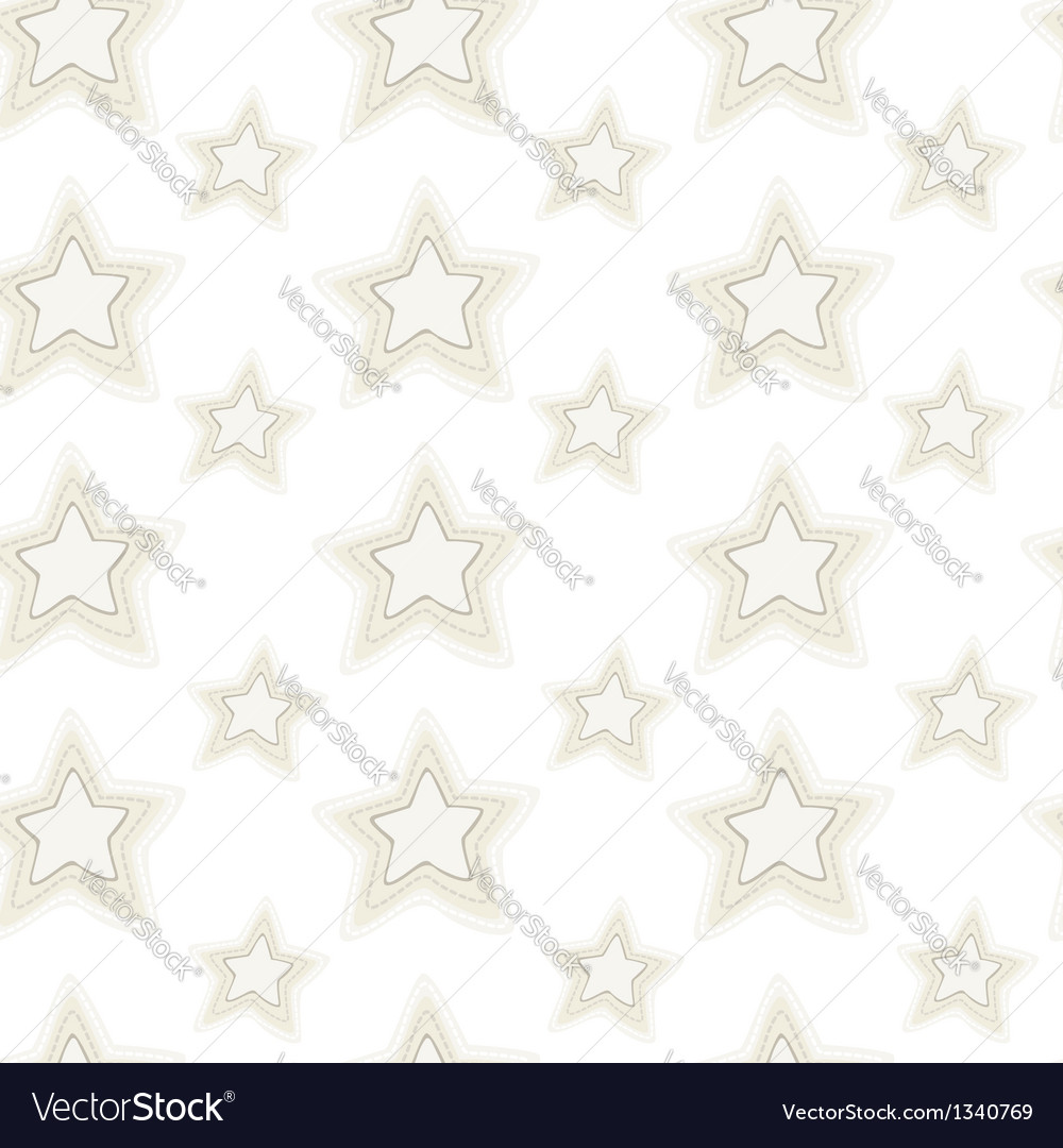 Seamless pattern of stars with hand embroidered vector | Price: 1 Credit (USD $1)