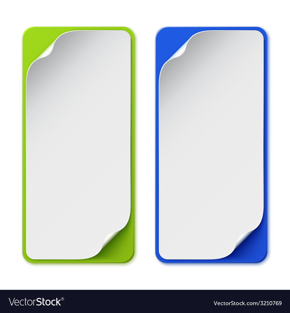 Set of two colorful banners vector | Price: 1 Credit (USD $1)