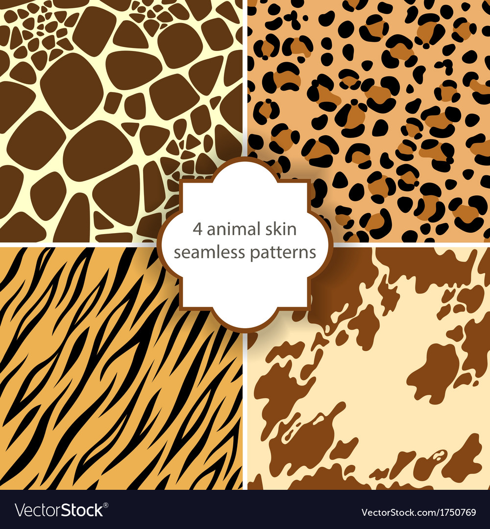 Skin seamless patterns vector | Price: 1 Credit (USD $1)