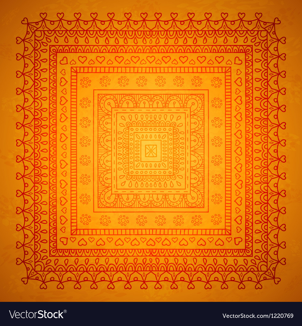 Square orient ornament background vector | Price: 1 Credit (USD $1)