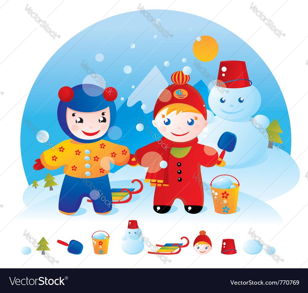 Winter walk vector   Price: 1 Credit (USD $1)
