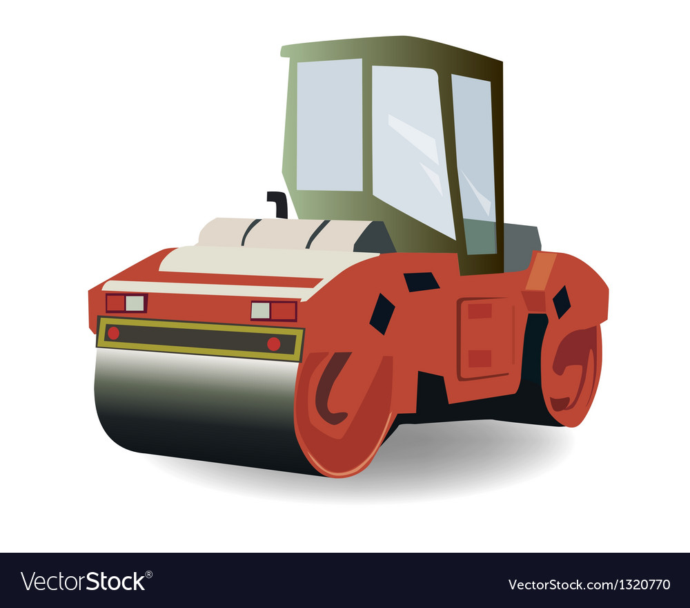 Asphalt compactor vector | Price: 1 Credit (USD $1)