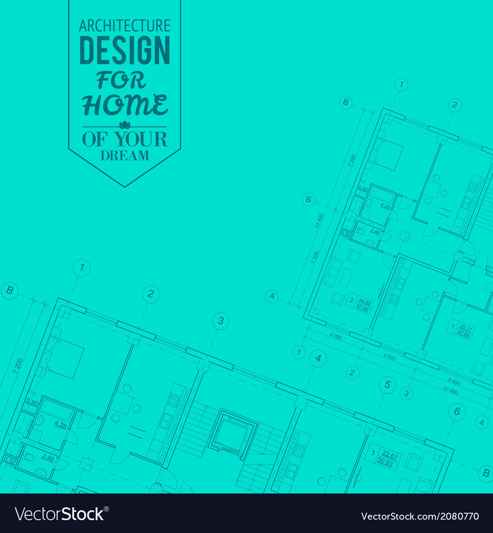 Blueprint of house project vector