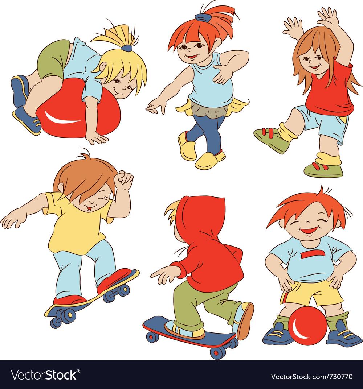 Cartoon small children vector | Price: 3 Credit (USD $3)