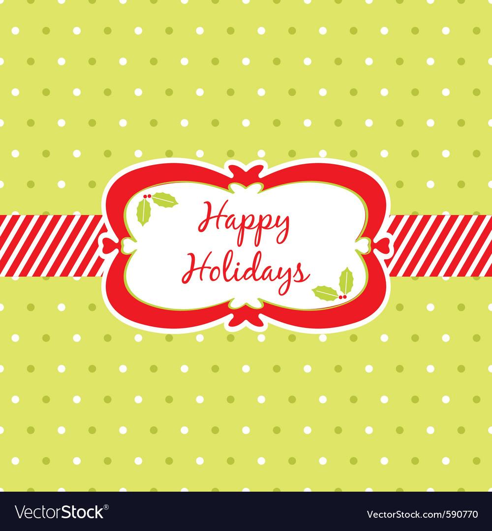 Christmas ribbon frame vector | Price: 1 Credit (USD $1)