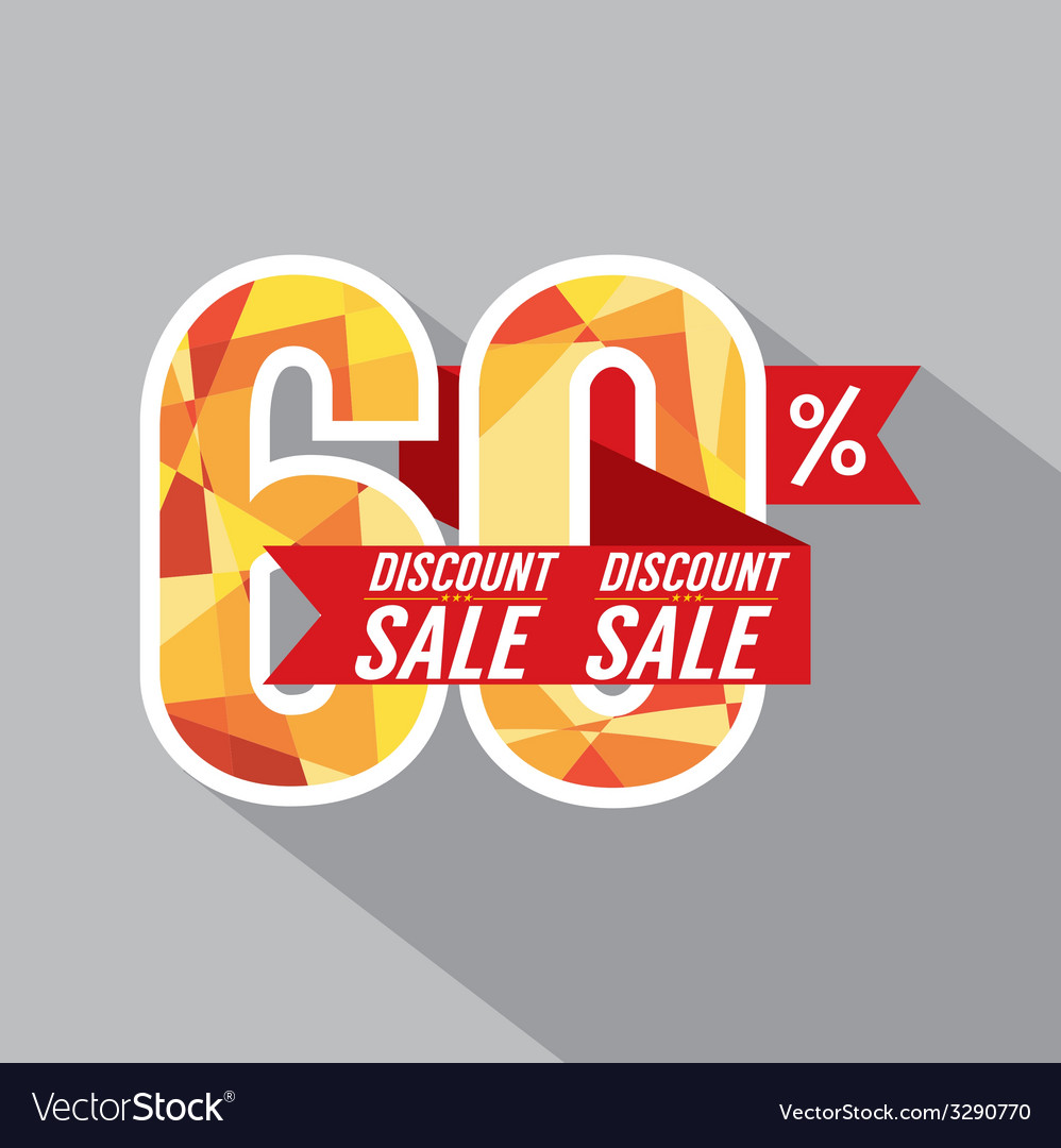 Discount 60 percent off vector | Price: 1 Credit (USD $1)