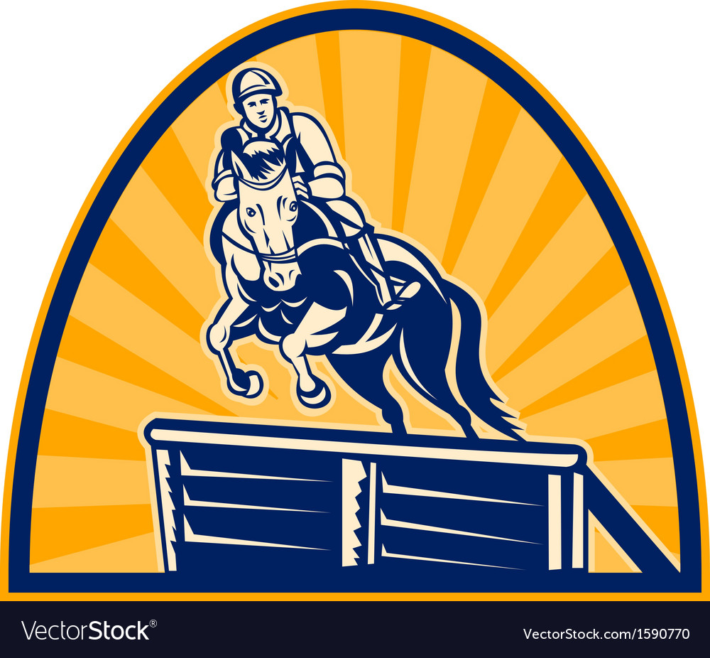 Equestrian show jumping horse vector | Price: 1 Credit (USD $1)