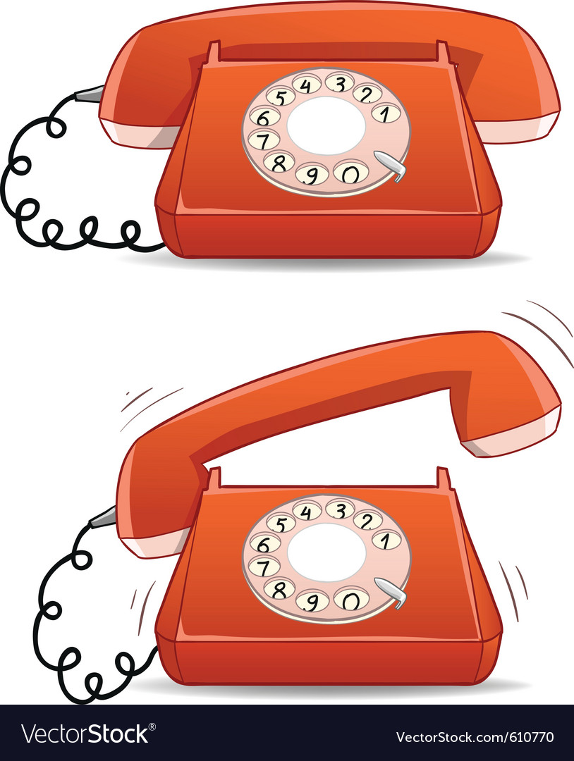 Old-fashion phone vector | Price: 1 Credit (USD $1)