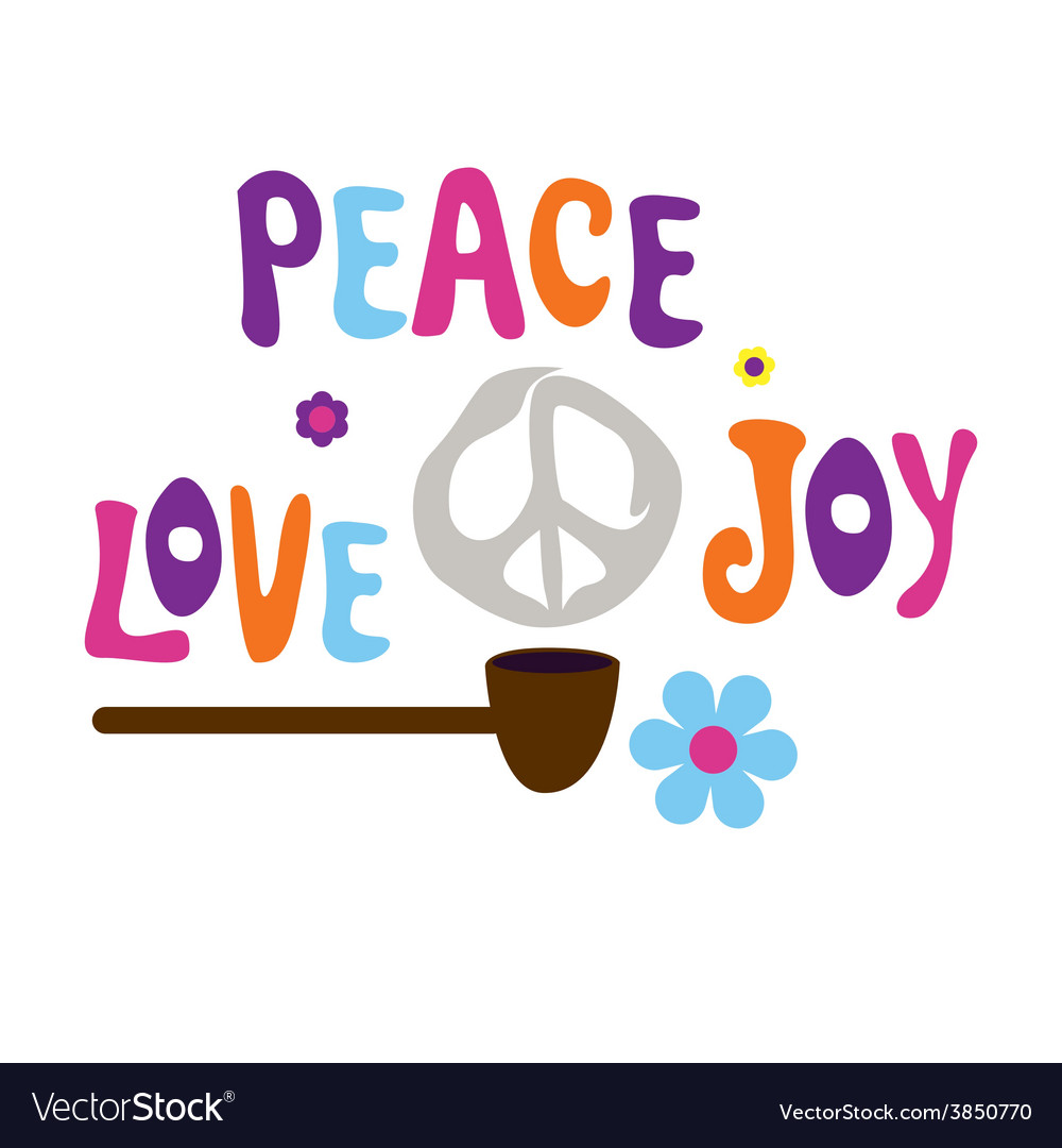 Pipe of peace love and joy vector | Price: 1 Credit (USD $1)