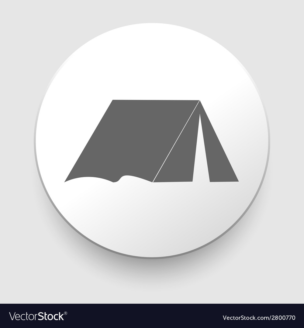 Tourist tent single icon vector | Price: 1 Credit (USD $1)