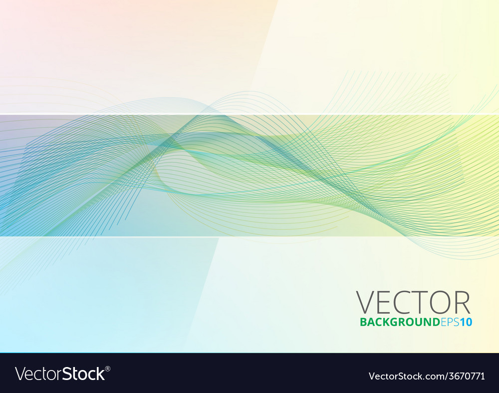 Abstract color wave design element vector | Price: 1 Credit (USD $1)
