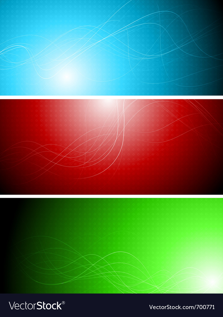 Banners with abstract lines vector | Price: 1 Credit (USD $1)