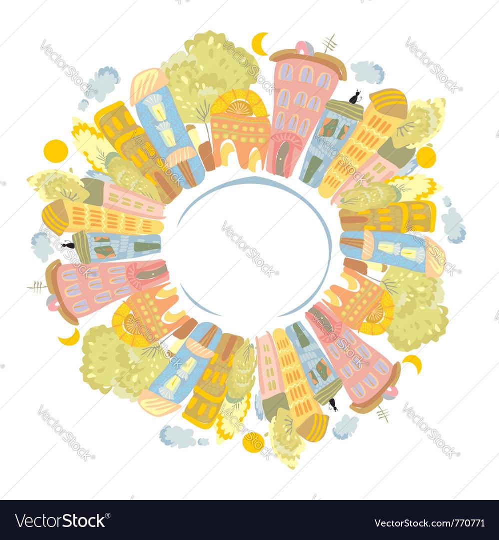 City circle vector   Price: 1 Credit (USD $1)