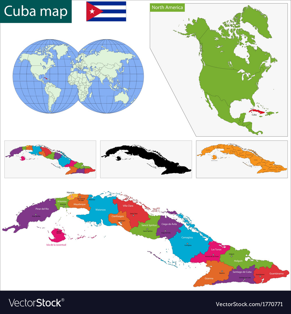 Cuba map vector | Price: 1 Credit (USD $1)