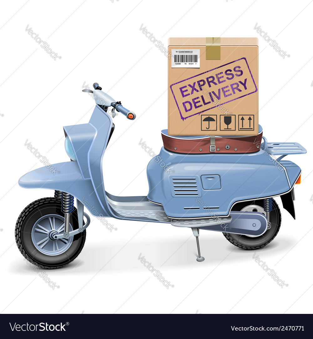 Delivery scooter vector | Price: 3 Credit (USD $3)
