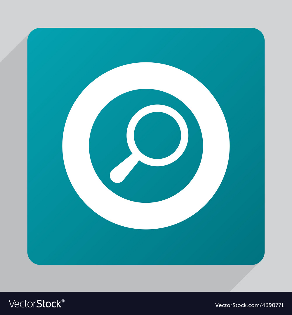 Flat search icon vector | Price: 1 Credit (USD $1)