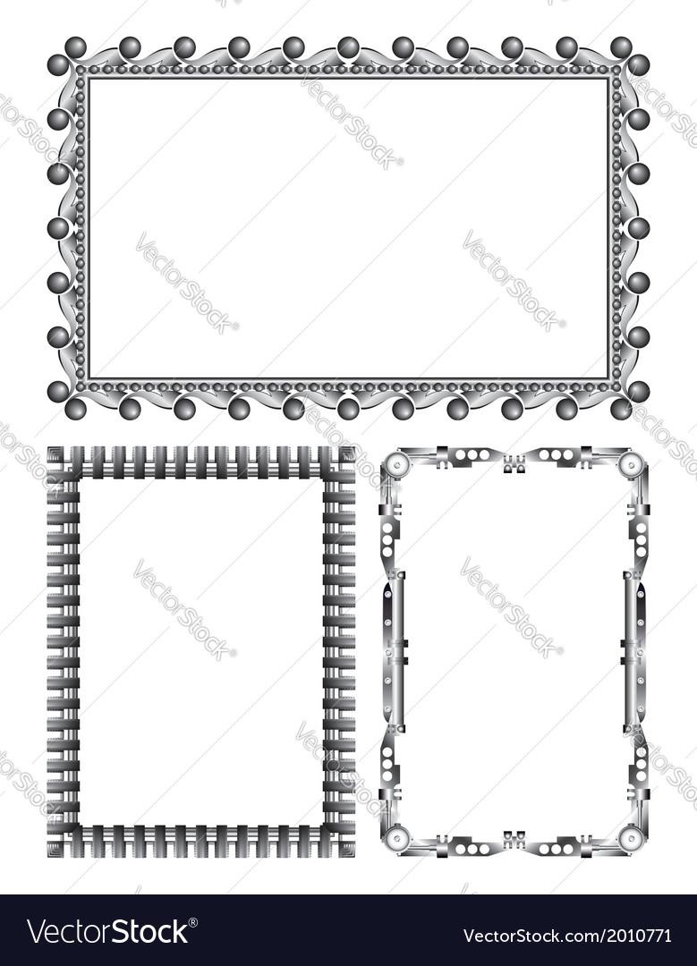 Gray metal frames - set vector | Price: 1 Credit (USD $1)