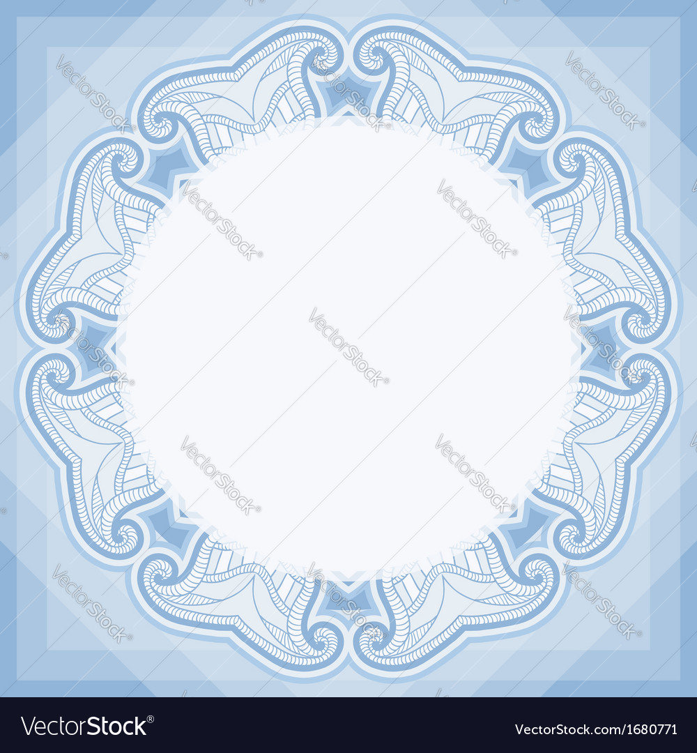Oriental pattern in blue colors vector | Price: 1 Credit (USD $1)