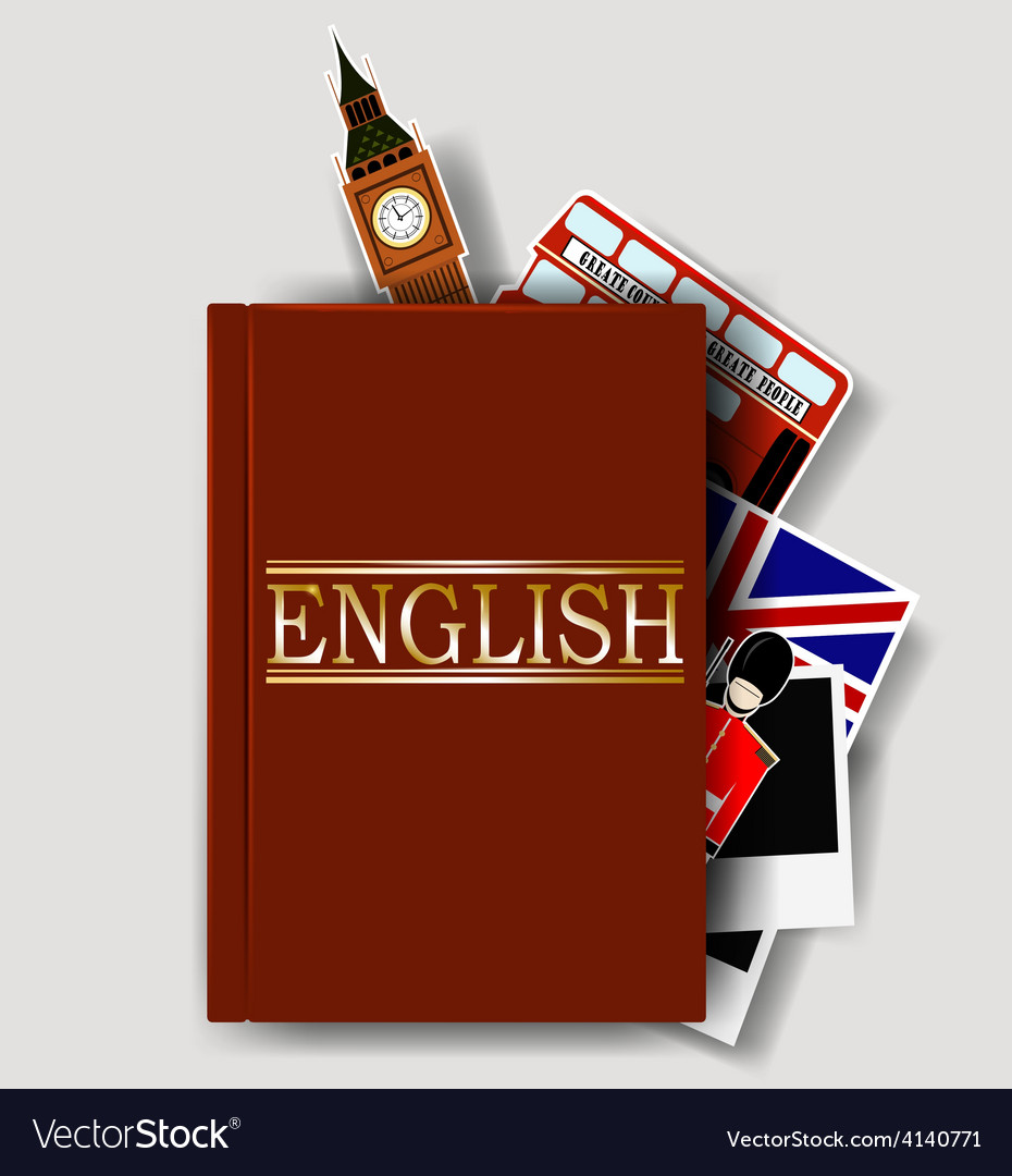 Red english dictionary vector | Price: 1 Credit (USD $1)