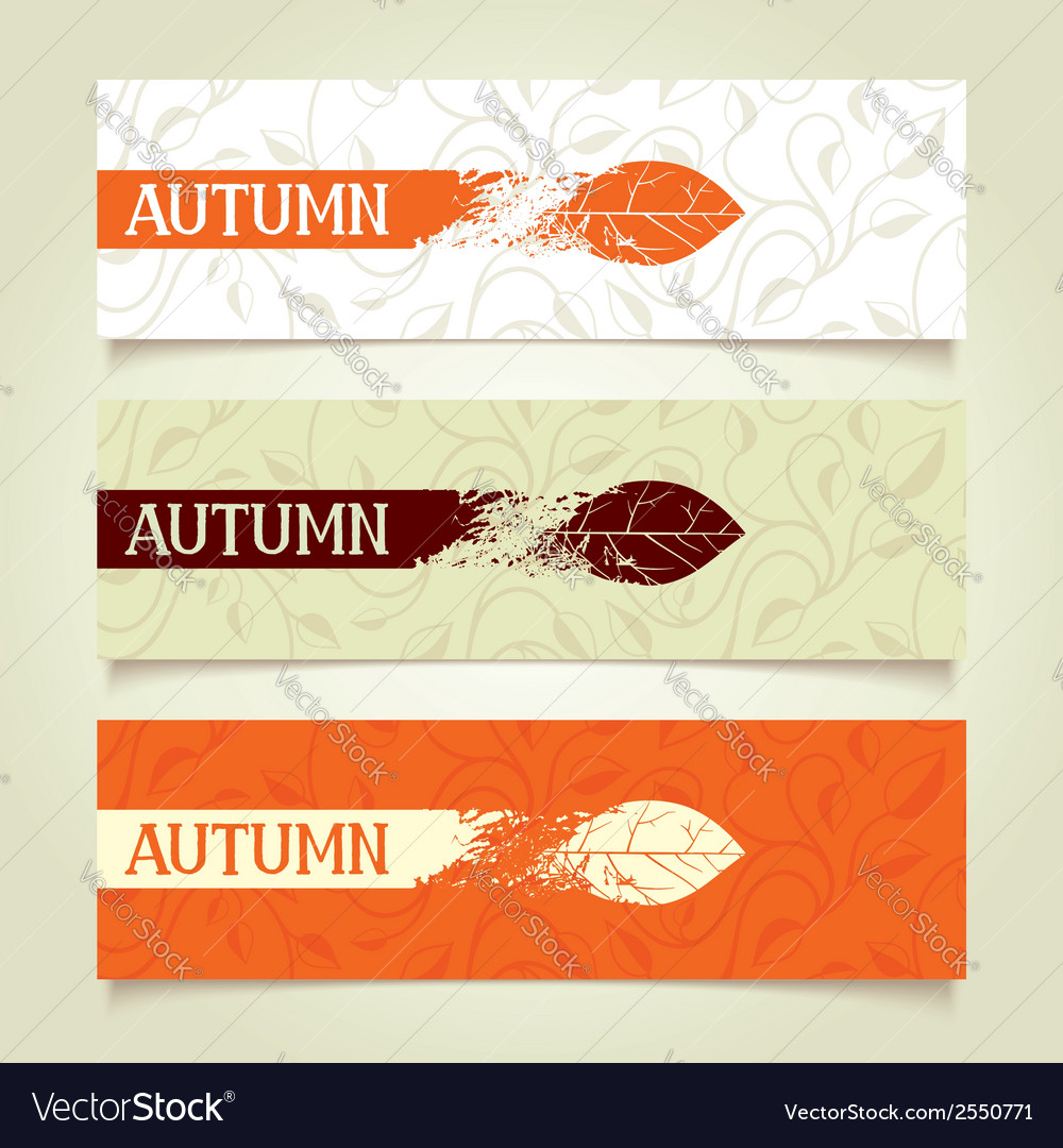 Set autumn banners vector | Price: 1 Credit (USD $1)