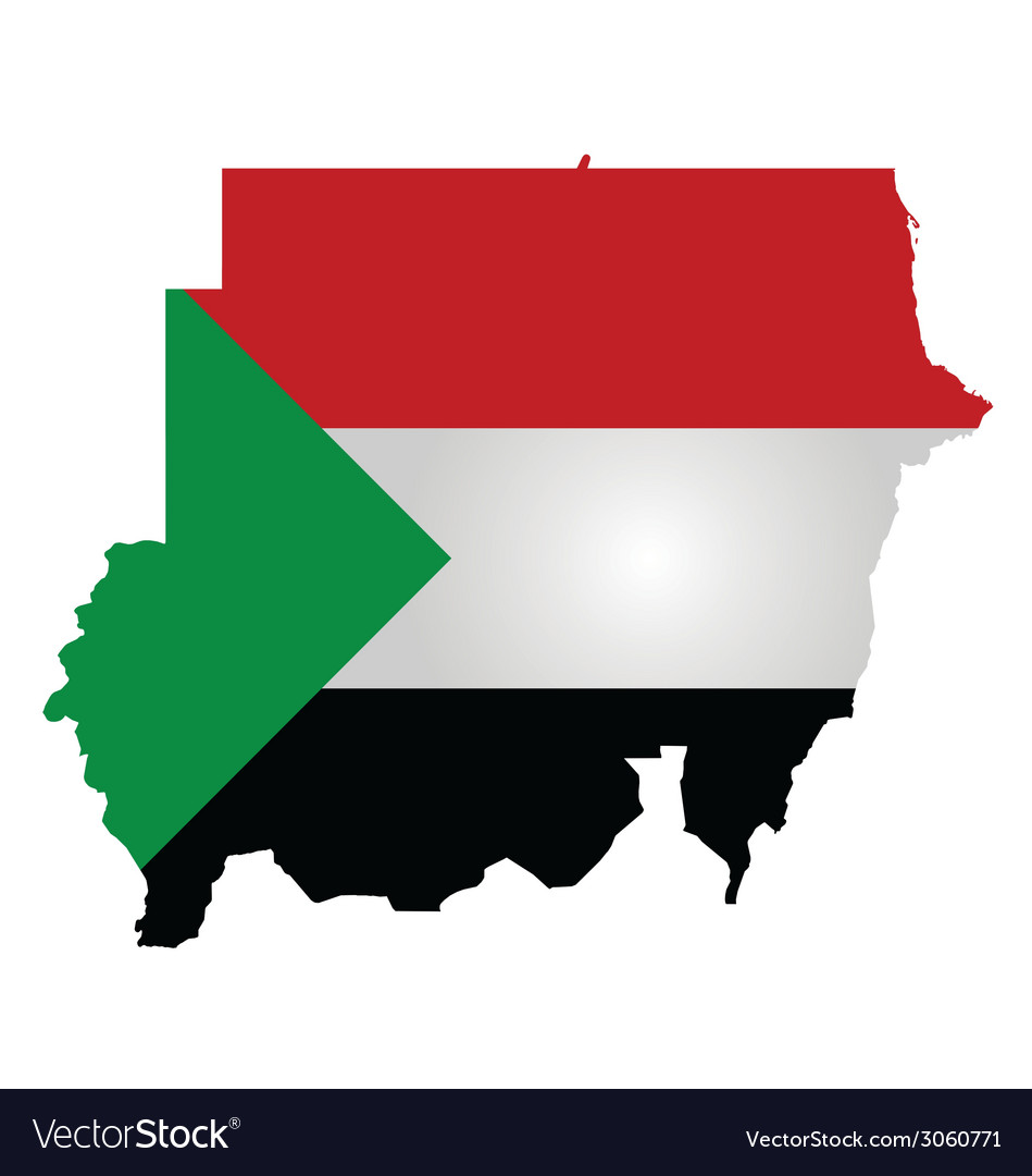 Sudan flag vector | Price: 1 Credit (USD $1)