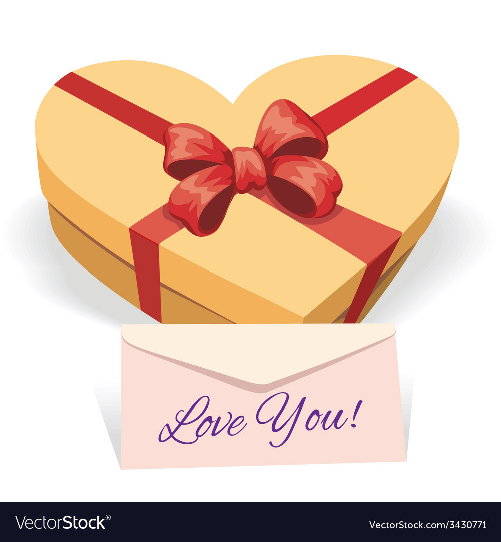 Valentines day concept with gift box vector | Price: 3 Credit (USD $3)