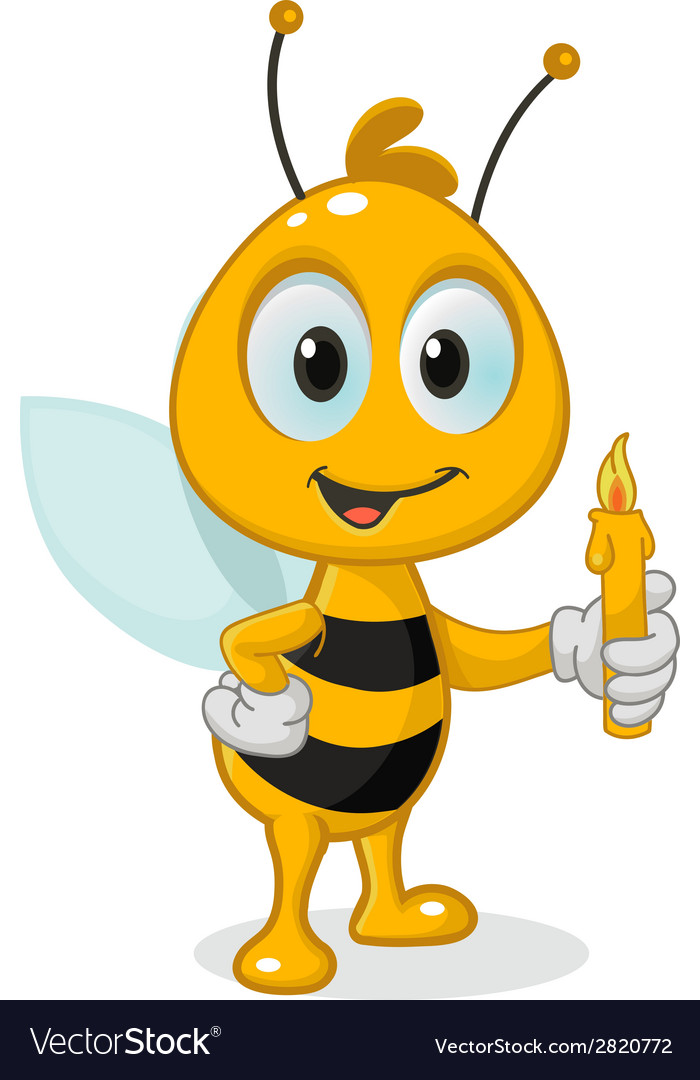 Bee with a candle vector | Price: 1 Credit (USD $1)