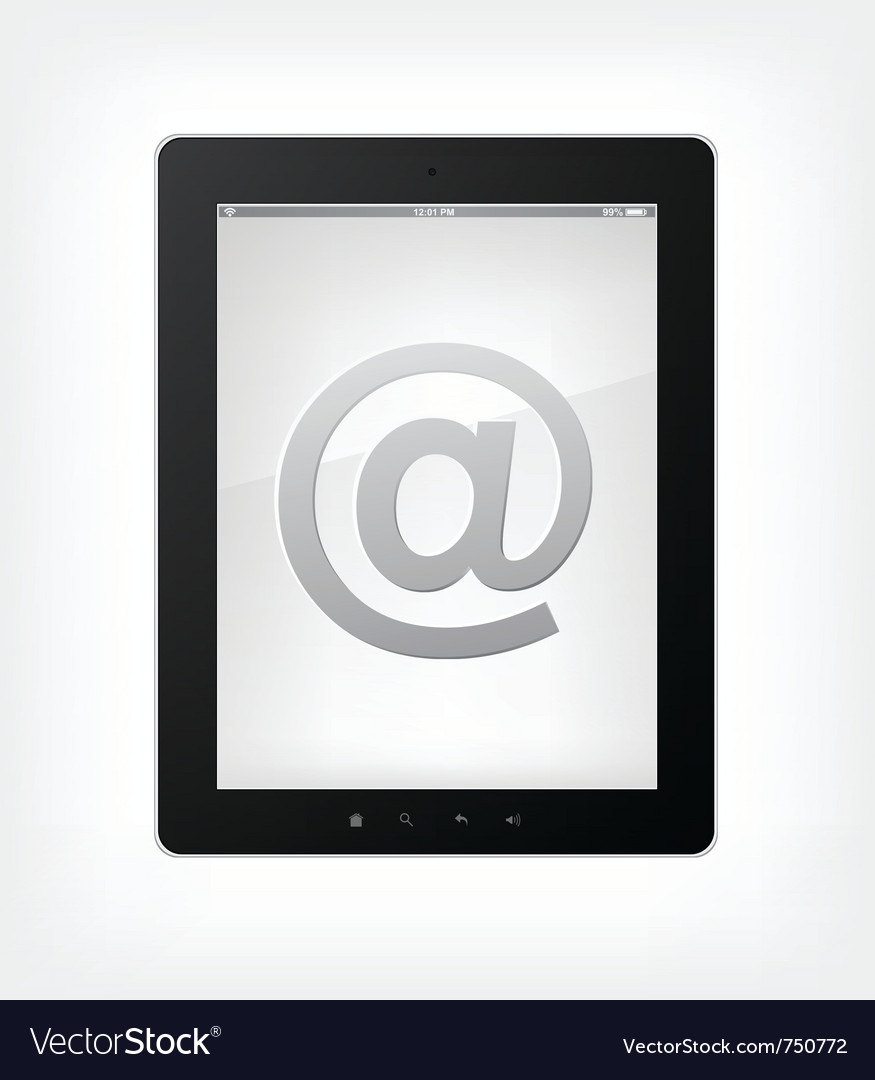 Email concept tablet pc vector | Price: 1 Credit (USD $1)