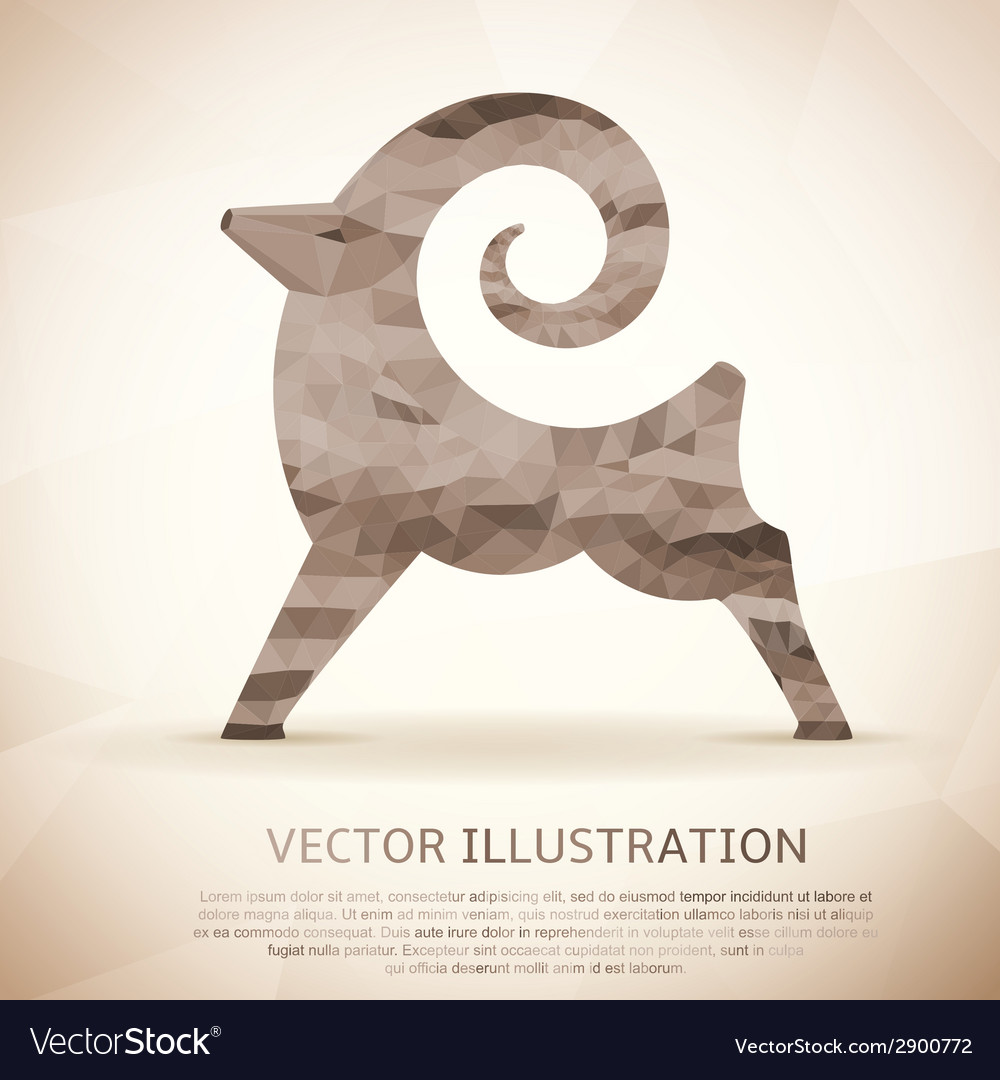 Geometric shape of the goat vintage style vector | Price: 1 Credit (USD $1)