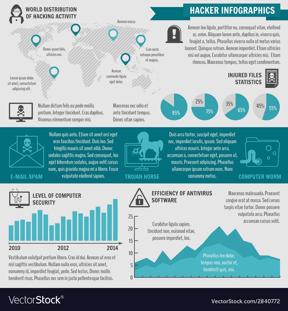 Hacker infographic elements vector   Price: 1 Credit (USD $1)