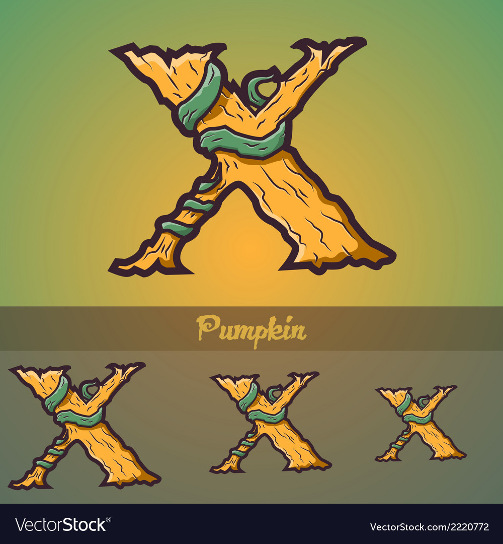 Halloween decorative alphabet - x letter vector | Price: 1 Credit (USD $1)