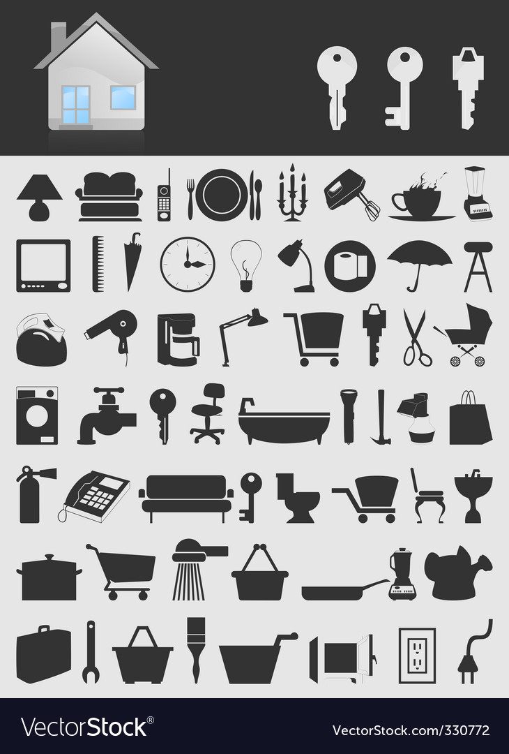 House icons2 vector | Price: 1 Credit (USD $1)
