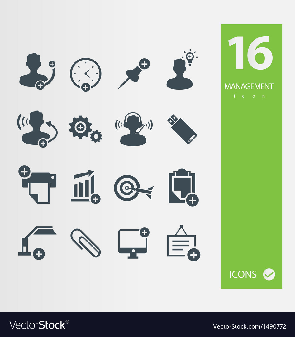 Management icon vector | Price: 1 Credit (USD $1)