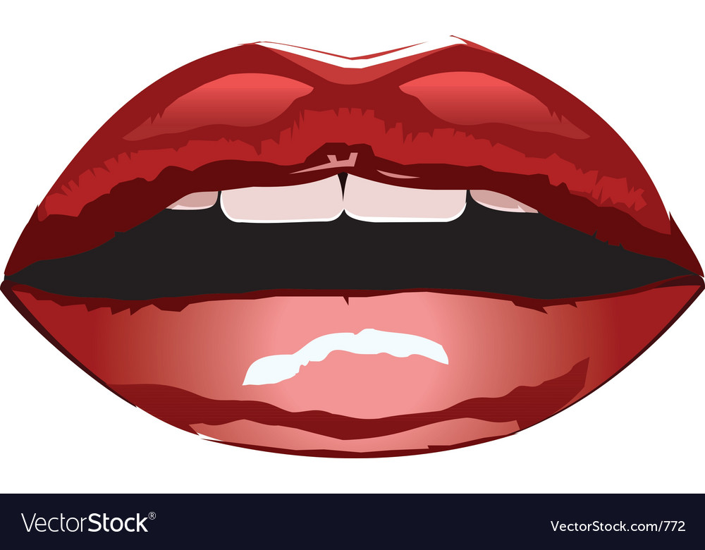 Red lips vector | Price: 3 Credit (USD $3)