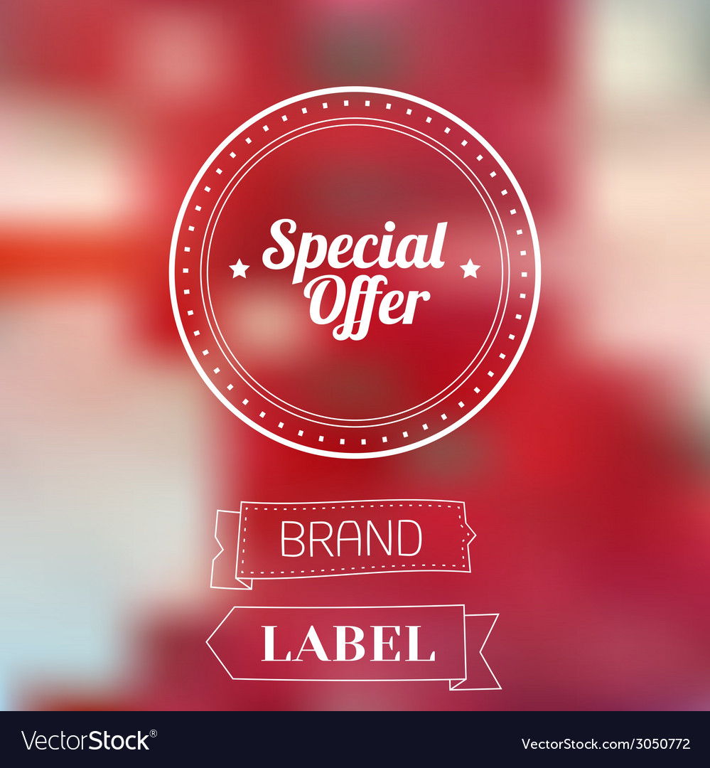 Vintage sale discount special offer label on vector | Price: 1 Credit (USD $1)