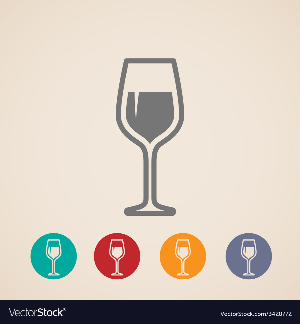 Wineglass icons vector | Price: 1 Credit (USD $1)