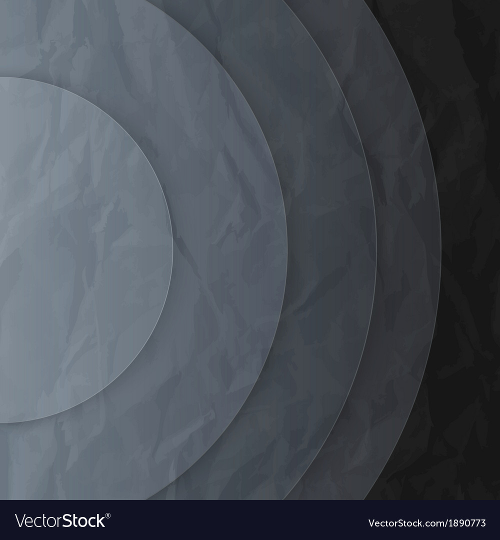 Abstract dark grey paper circles background vector   Price: 1 Credit (USD $1)