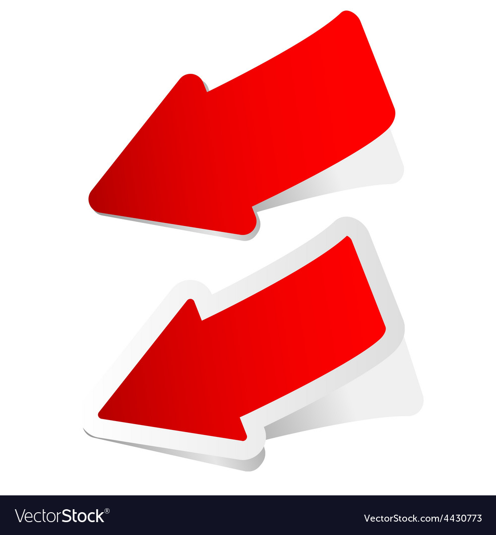 Arrow sticker in red vector | Price: 1 Credit (USD $1)
